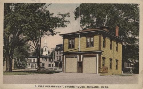 Ashland Postcard Series - Fire Department Engine House